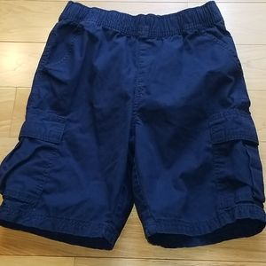 Boys 10H husky navy pull on cargo shorts adjust